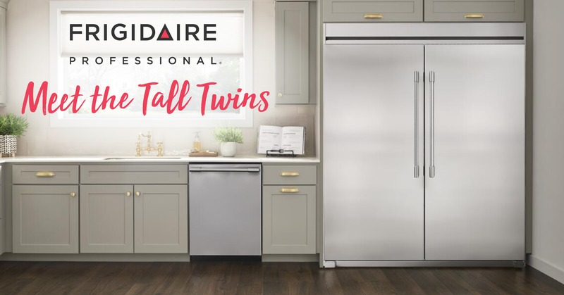 Introducing the Frigidaire Tall Twins Freezer and Refrigerator