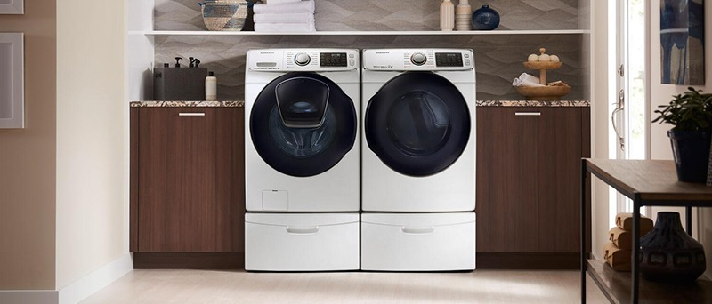 Samsung Front-Load Washer and Dryer