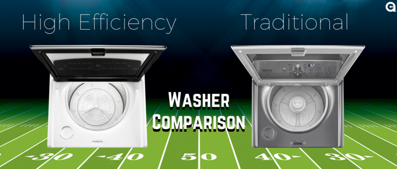 High Efficiency Vs Regular Washers Side By Side Difference Appliances Connection