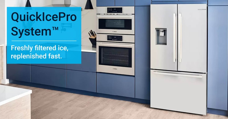 The QuickIcePro System for the Bosch 500 Series Refrigerators