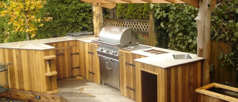 Custom-Made Outdoor Kitchen