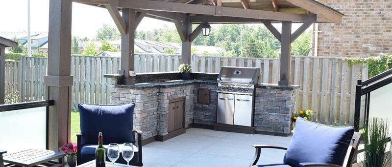 Half-Gazebo Outdoor Kitchen