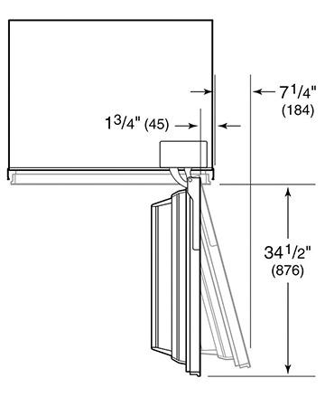 Full-Size Refrigerator Measurements