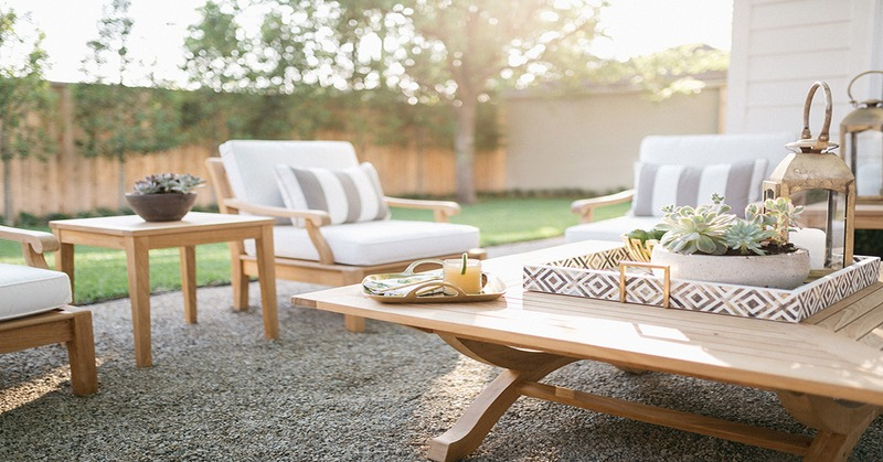 chic outdoor living space