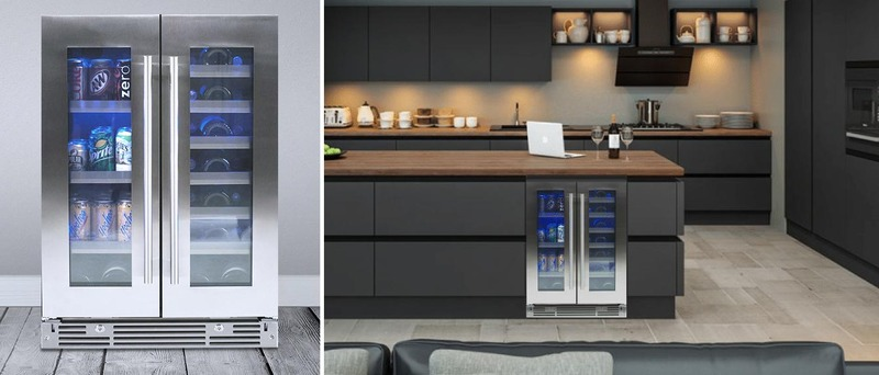 New Xo Undercounter Wine Coolers and Beverage Centers: XOU24BWDDGS 24-Inch Freestanding or Built-In French Door Beverage Center