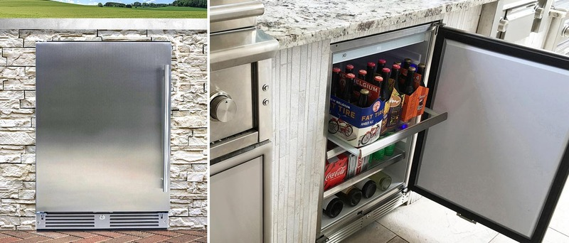 New Xo Undercounter Wine Coolers and Beverage Centers: XOU24ORSL 24-Inch Freestanding or Built-In Outdoor Refrigerator