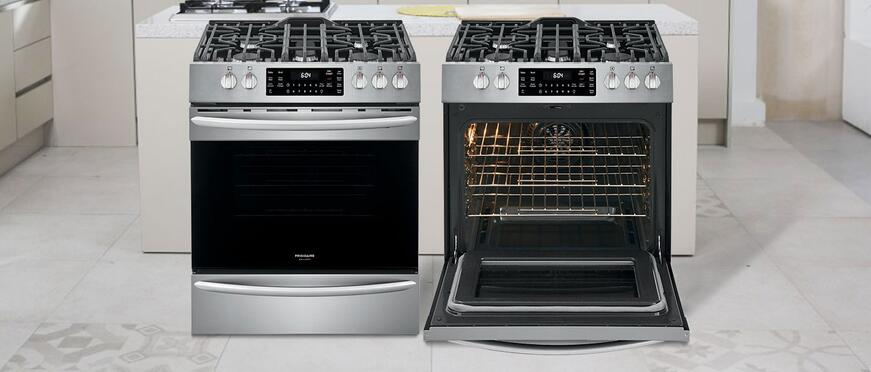 Introducing the New Frigidaire 30-Inch Slide-In Gas Range with Air Fry
