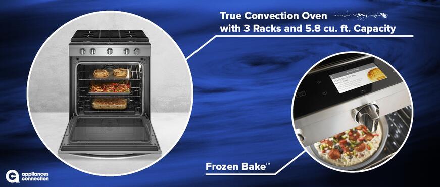 WEG750H0HZ 30-Inch Smart Freestanding Natural Gas Range Oven Features