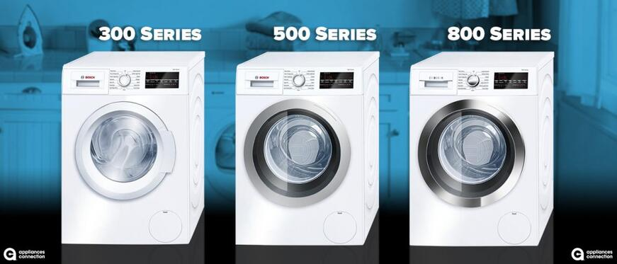 Comparing Bosch Washer And Dryer Series 300 Vs 500 Vs