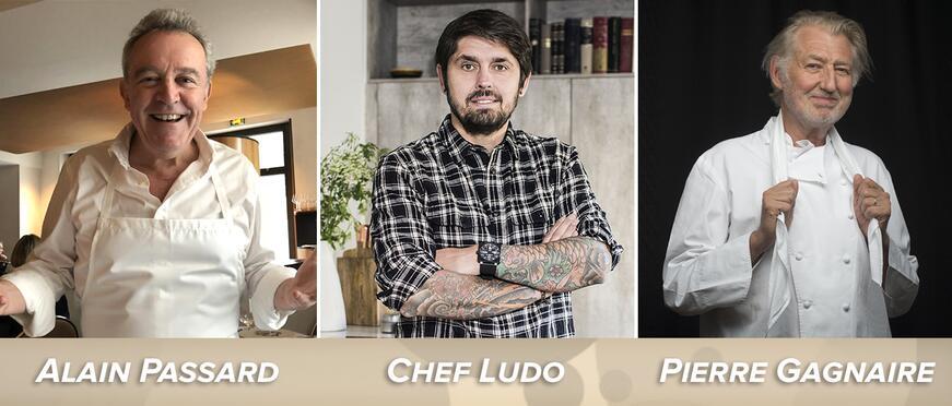 Fisher Paykel Chef Ludo Lefebvre: Alain Passard, Ludo Lefebvre, and Pierre Gagnaire