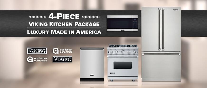 4 Piece Viking Kitchen Package Luxury Made In America