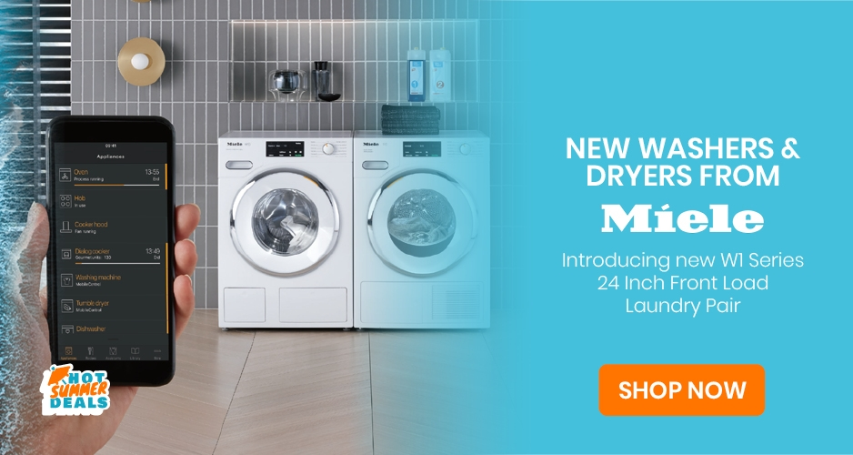 New washers & dryers from Miele