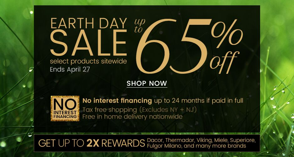 Earth Day Sale - Up to 65% Off Select Products Sitewide