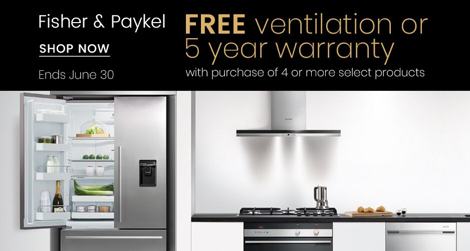 Fisher Paykel - Free Range Hood or 5 Year Warranty
