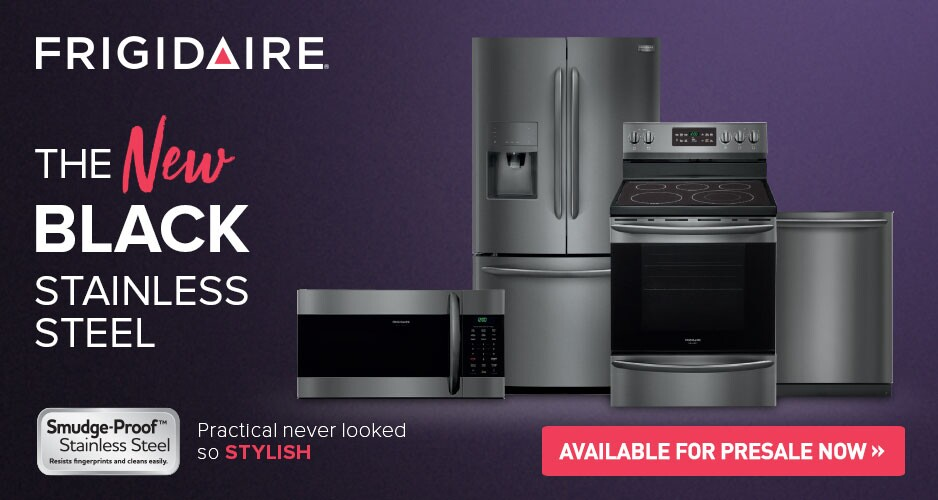Frigidarie Black Stainless Steel