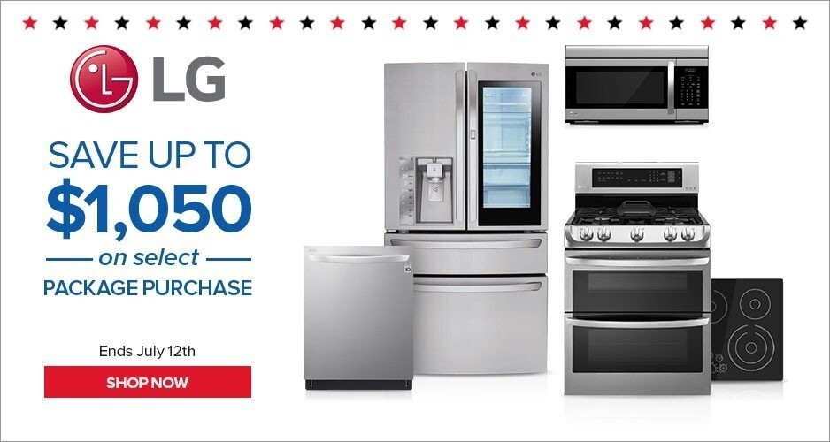 July 4th Sale LG - Save Up to $1,050 On Kitchen Packages