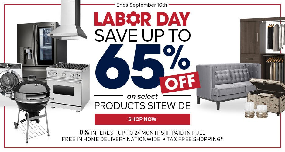Labor Day Sale - Up to 65% Off Select Products Sitewide