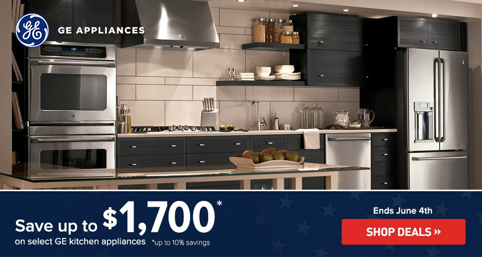 GE Appliances Save Up to $1,700 Off Kitchen Packages