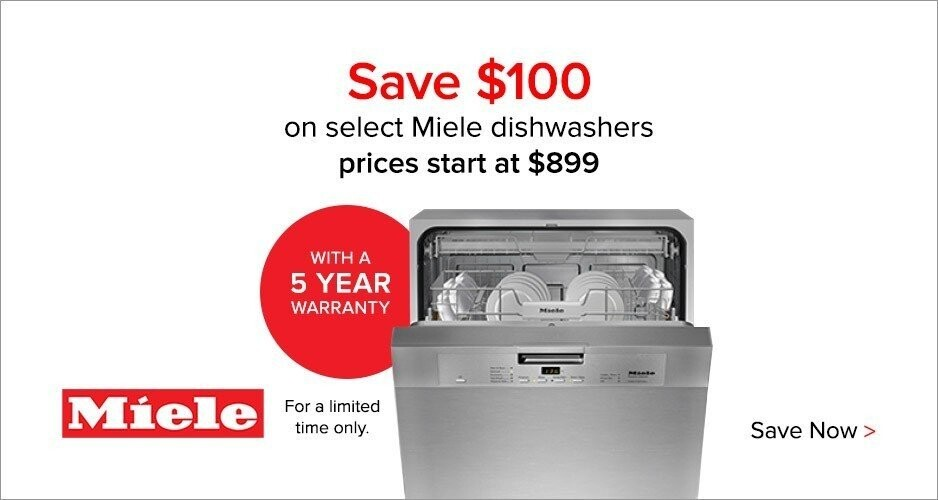 Miele - $100 Off Dishwasher + 5 Year Warranty