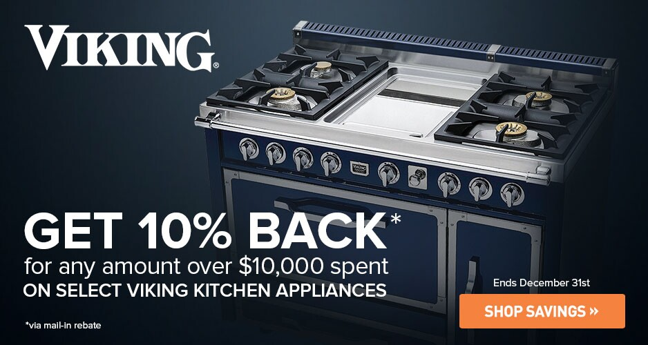 Viking Get 10% Back for Any Amount Over $10,000 Spent on Select Viking Kitchen Appliances