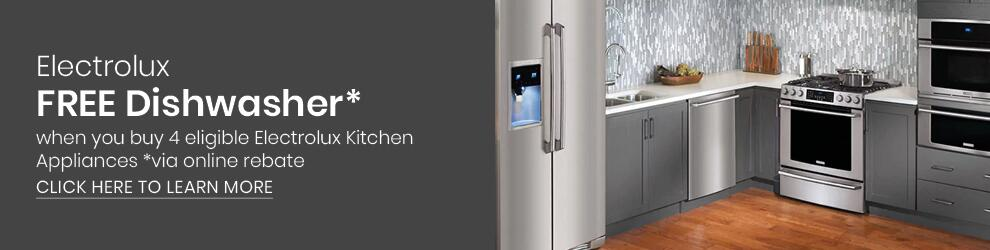 Electrolux Free Dishwasher Promotion with purchase of select kitchen appliances