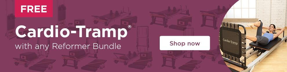 Buy any Reformer Bundle and receive a free Cardio-Tramp