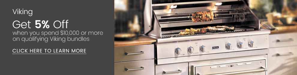 Viking - Get 5% Back When You Spend Over $10,000 on Qualifying Outdoor Kitchen Appliances