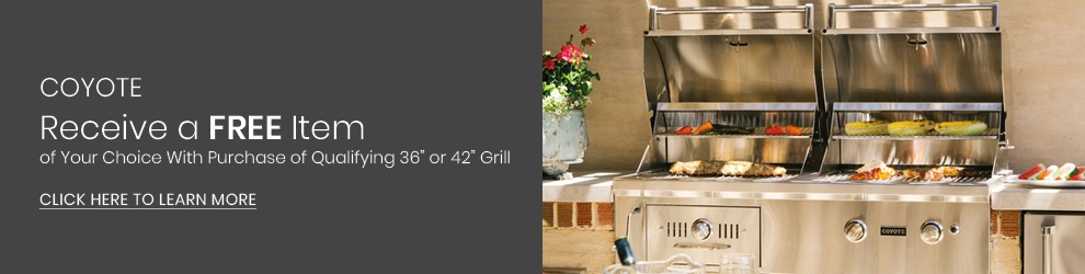 Coyote Summer Promotion - Free Item with Grill Purchase