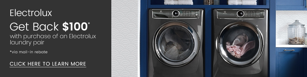 Electrolux Get Back $100 with purchase of a laundry pair