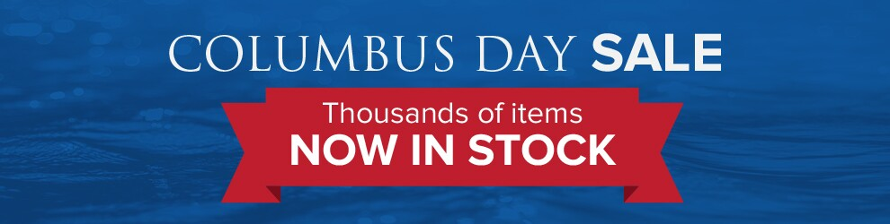 Columbus Day Sale - thousands of items Now in Stock