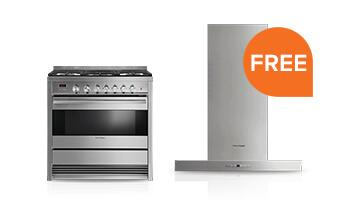 Free Ventilation Hood with Select Freestanding Kitchen Package Purchase
