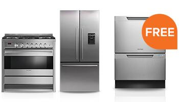 Free Dishwasher with Select Freestanding Kitchen Package Purchase