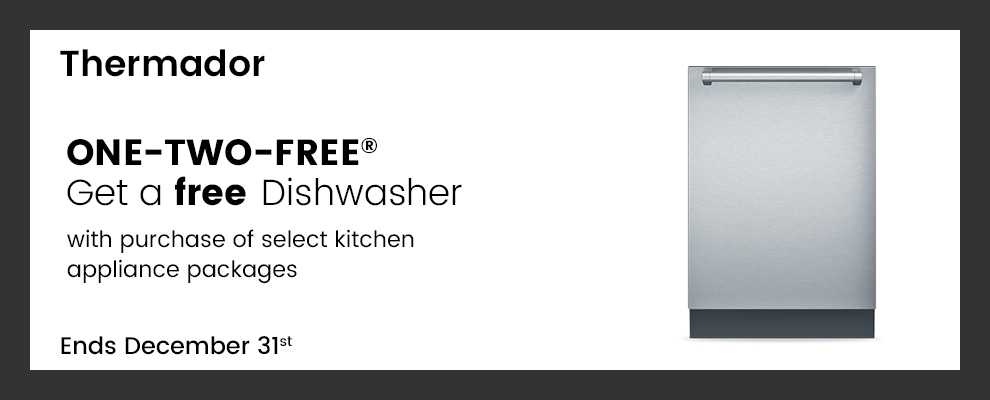 Thermador Free Dishwasher Promotion with purchase on select Thermador range