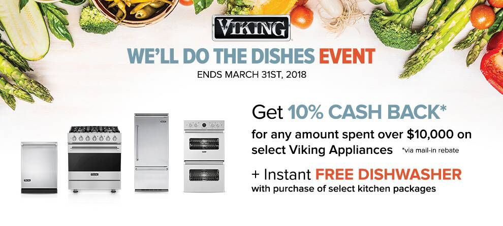 Viking Free Dishwasher Promotion with purchase of select kitchen appliances